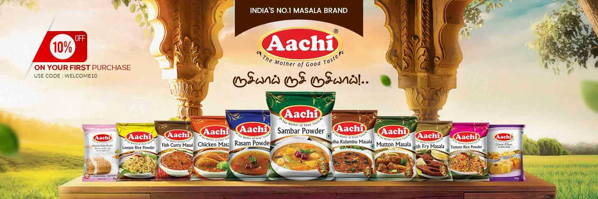 Delicious Aachi Spices Masalas Online